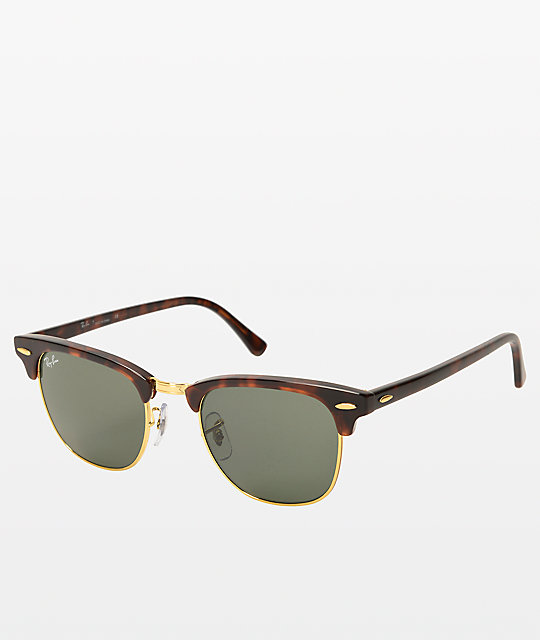 ad33f3059 Ray-Ban Large Clubmaster Tortoise Sunglasses | Zumiez