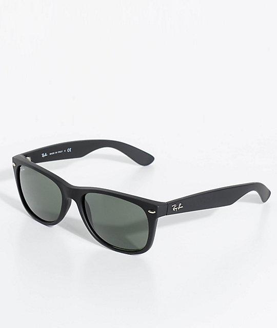 fc61191767ad Ray-Ban New Wayfarer Classic Matte Black Sunglasses   Zumiez