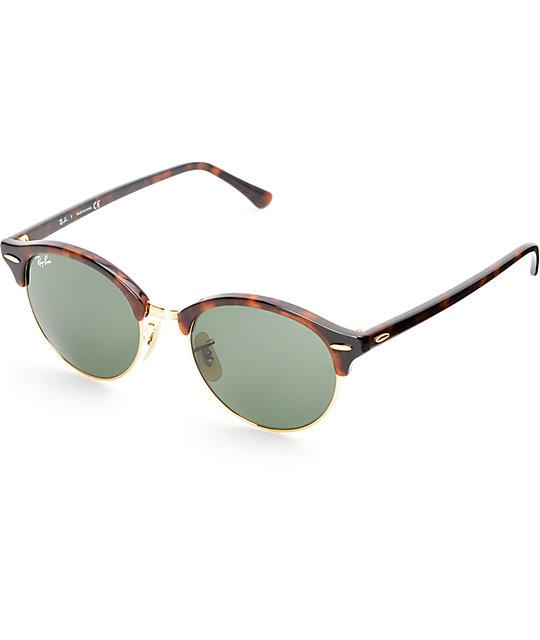 e38afa61b Ray-Ban Round Clubround Havana Tortoise Sunglasses | Zumiez