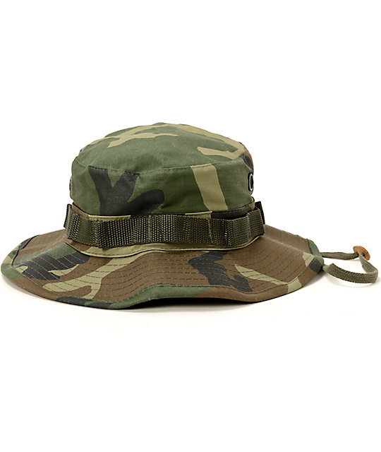 56c677c5 Rothco Boonie Woodland Camo Bucket Hat | Zumiez