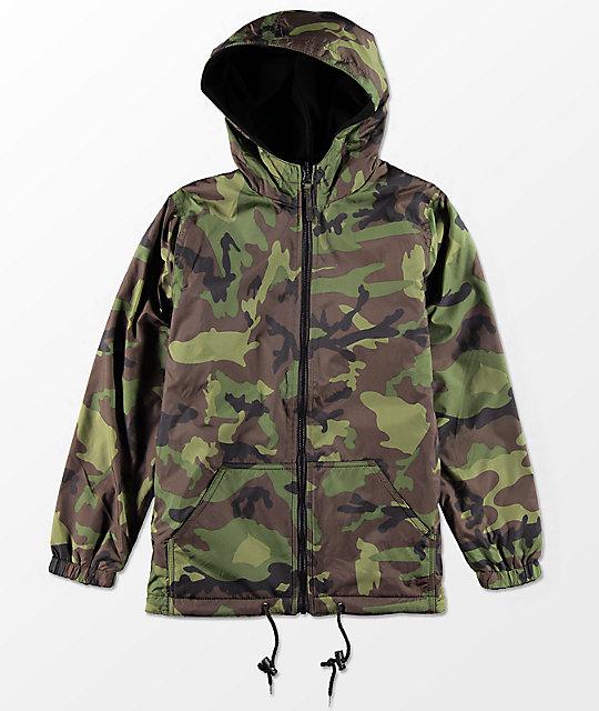 cca4e42ca7900 Rothco Boys Woodland Nylon Reversible Jacket | Zumiez