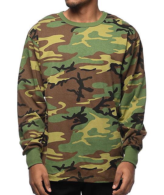 92bac3470293 Rothco Woodland Camo Long Sleeve T-Shirt | Zumiez