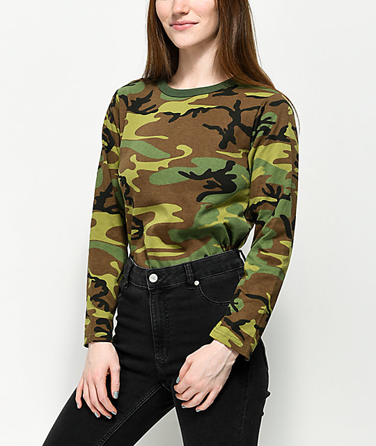 b53316784710 Rothco Woodland Camo Long Sleeve T-Shirt | Zumiez