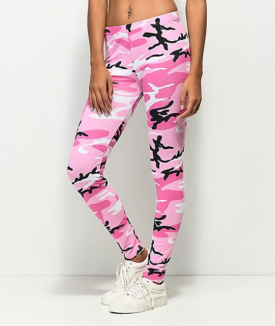ce1e3d6cf91e9 Rothco Woodland Pink Camo Leggings | Zumiez