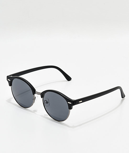 847389ba9 Round Black Clubmaster Sunglasses   Zumiez