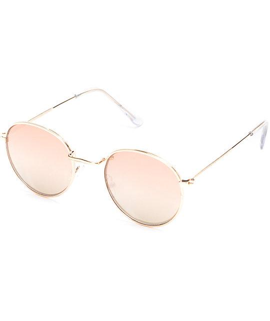 231e249da Round Rose Gold Fashion Sunglasses | Zumiez