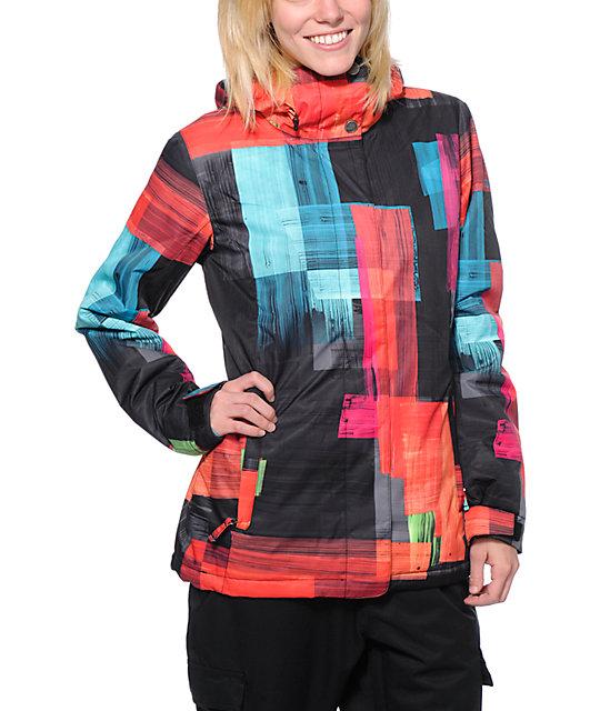d96c0a9f0 Roxy American Pie Orange 10K Snowboard Jacket