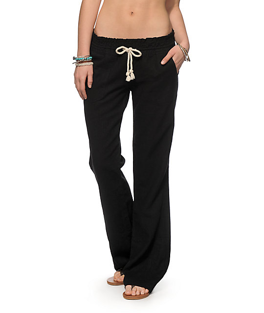 3529f7cd59 Roxy Oceanside Black Beach Pants | Zumiez