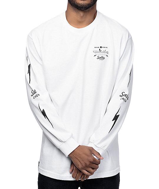 3376f8f3840b Salty Crew Dash White Long Sleeve T-Shirt | Zumiez