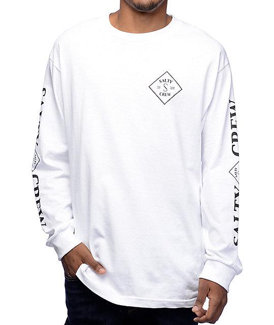 b40ae553d74c Salty Crew Tippet White Long Sleeve T-Shirt | Zumiez