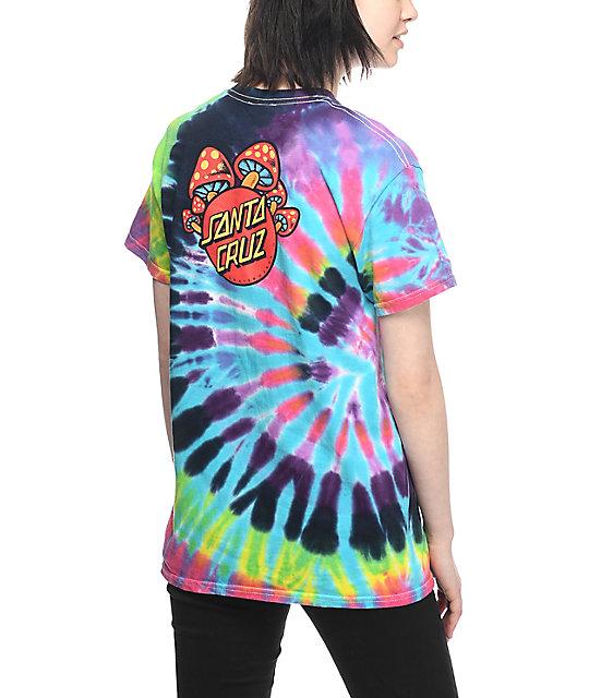 a15a956d Santa Cruz Shroom Dot Tie Dye T-Shirt | Zumiez
