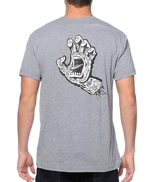Santa Cruz Tattooed Hand T-Shirt | Zumiez