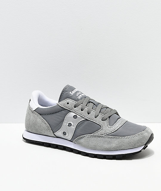 pretty nice 1008b a24c0 Saucony Jazz Low Pro Grey & Silver Shoes