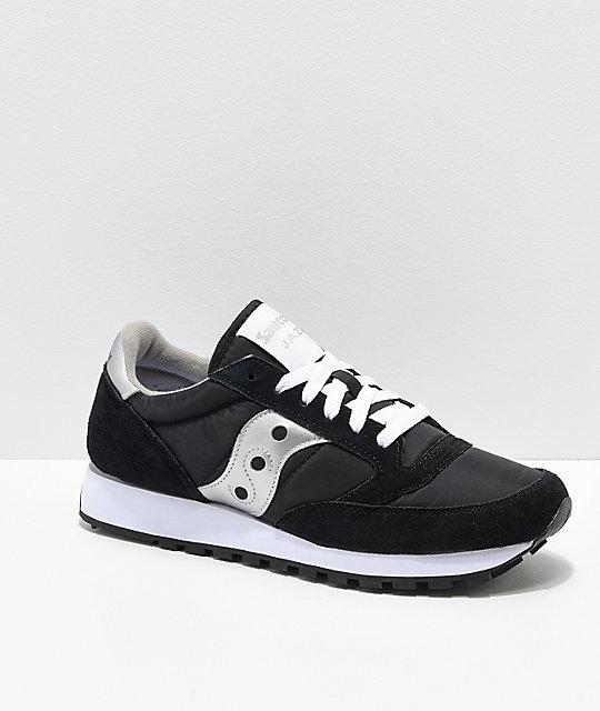 quality design a6009 6f830 Saucony Jazz Original Black & Silver Shoes