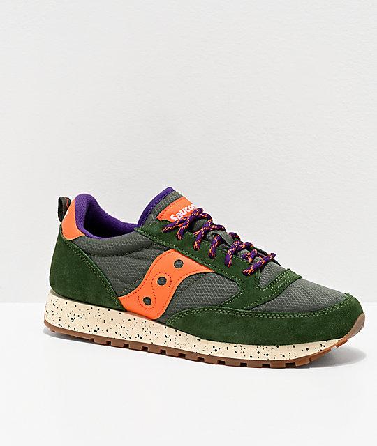 official photos 93611 0da4b Saucony Jazz Original Climbing Green & Orange Shoes