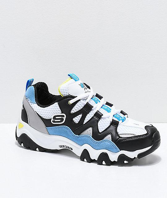 X Skechers One Blancos Zapatos NegrosAzules Piece D'lites Y 2 f6yb7gY