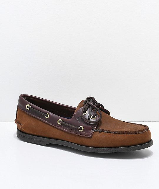 Qualité supérieure 65bde 17ffb Sperry Authentic Original 2-Eye Brown Buck Shoes