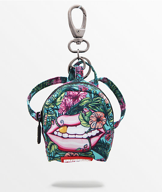 a05bcc744e6 Sprayground Jungle Lips Key Chain Zip Pouch
