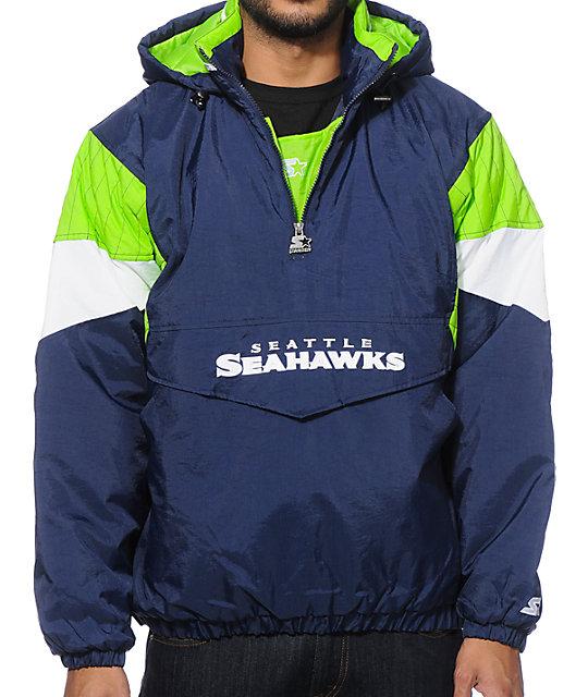low priced ffe31 21bbd Starter Seattle Seahawks Pullover Jacket