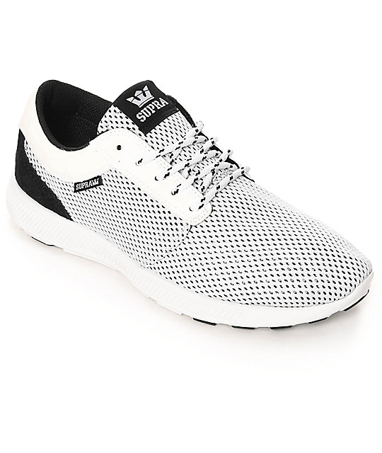 acheter populaire 789c0 a9671 Supra Hammer Run White & Black Mesh Shoes