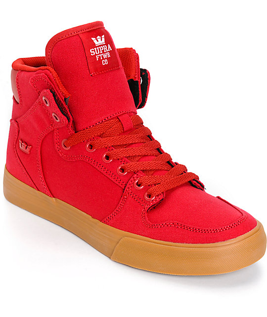buy online 0cb69 4dbb1 Supra Vaider Red Skate Shoes ...