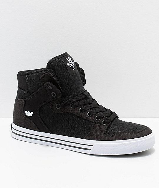 Y Negro Vaider En Supra De Skate Lienzo Zapatos Blanco 54RAjL