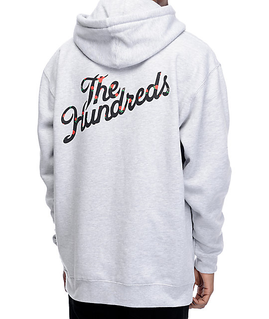 401fcd14 The Hundreds Rose Fill Slant Grey Pullover Hoodie | Zumiez