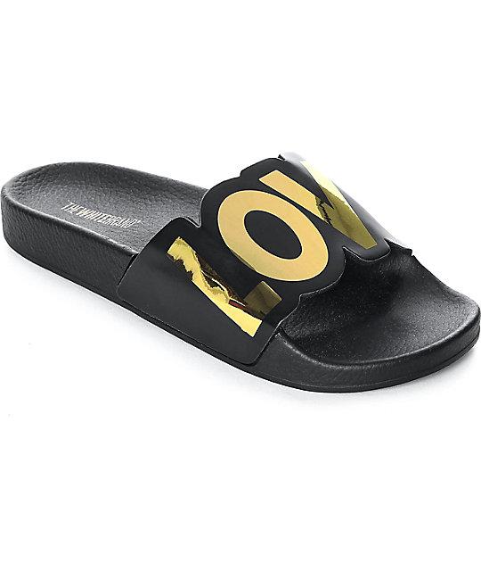 New Black Love Women's Slide Thewhitebrand Sandals thrCdsQx