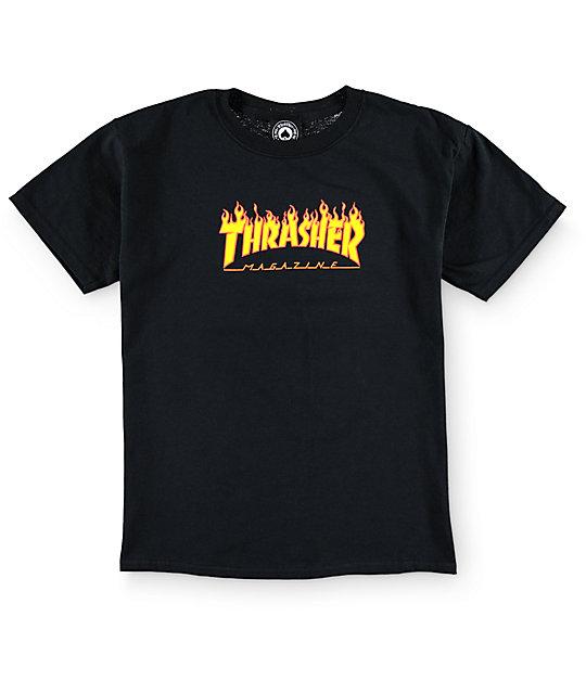 887030e272ec Thrasher Boys Flame Logo T-Shirt   Zumiez