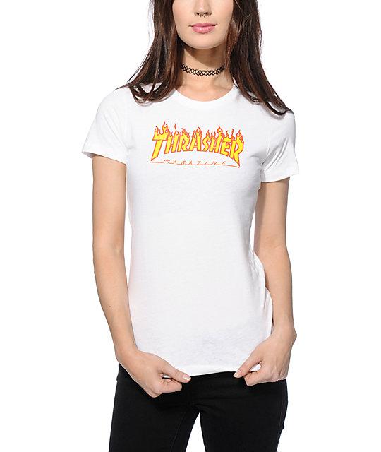 Thrasher Flame Logo Slim Fit T-Shirt  882db8217