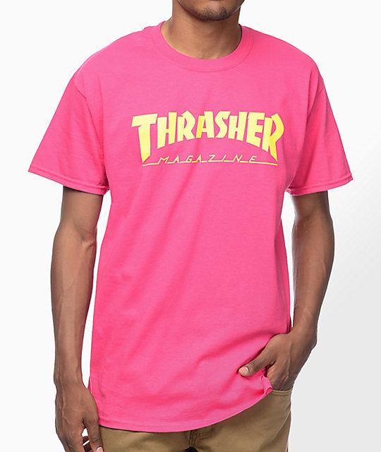 92ea003f2c65 Thrasher Magazine Logo Pink T-Shirt | Zumiez