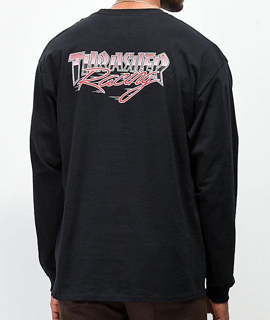 20270e68beef Thrasher Racing Black Long Sleeve T-Shirt   Zumiez