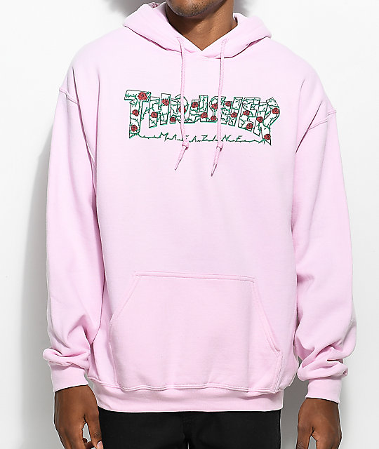 Thrasher Roses Pink Hoodie Zumiez