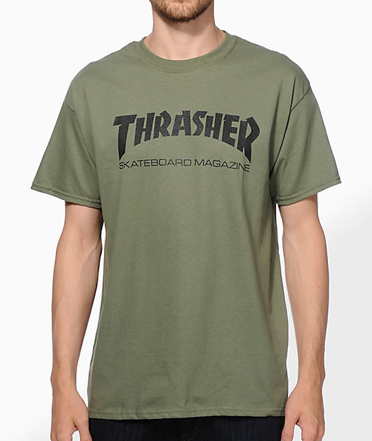 2974084e9d10 Thrasher Skate Mag Army Green T-Shirt | Zumiez