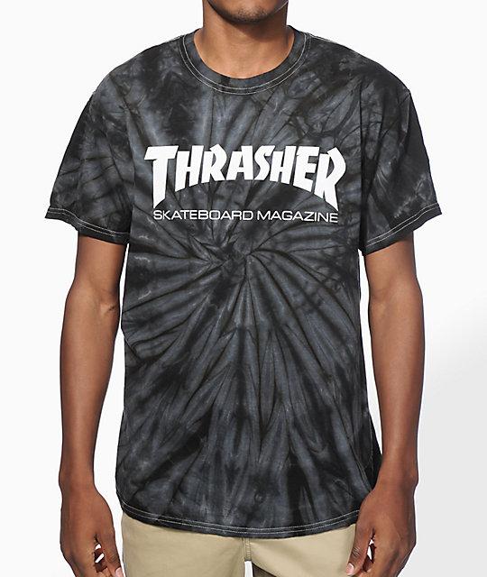 03acbce14e68 Thrasher Skate Mag Spider Dye T-Shirt | Zumiez