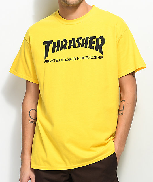 d11e148f6c47 Thrasher Skate Mag Yellow T-Shirt | Zumiez