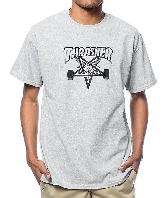 a1e4814d3ce5 Thrasher Skategoat Heather Grey T-Shirt | Zumiez