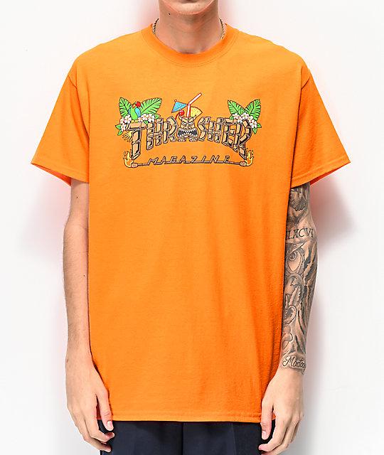 3a07e3901ae8 Thrasher Tiki Orange T-Shirt   Zumiez