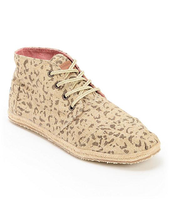 a0721dcff403d Toms Desert Botas Snow Leopard Print Womens Shoes | Zumiez