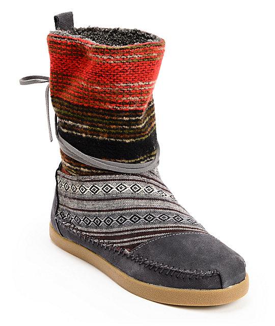 89d186239 Toms Nepal Mixed Woven Womens Boots | Zumiez