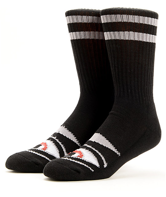 74cbebacf2ba6 Toy Machine Sect Eye Black Crew Socks | Zumiez