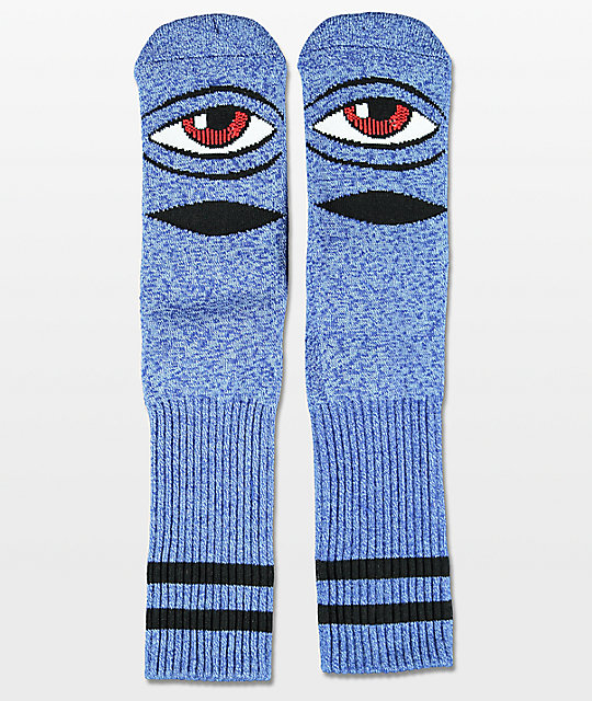 31a3e44bea414 Toy Machine Sect Eye Heather Blue Crew Socks | Zumiez