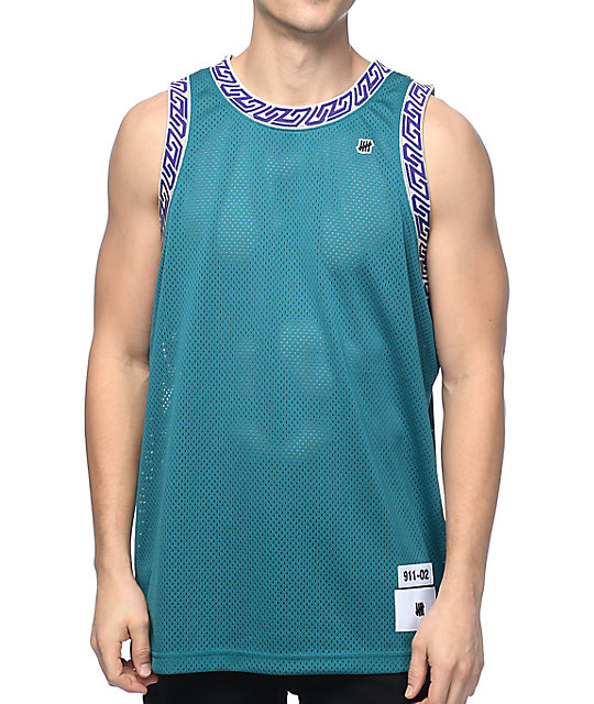 new product 45e78 63cac Undefeated Authentic Dark Teal Basketball Jersey