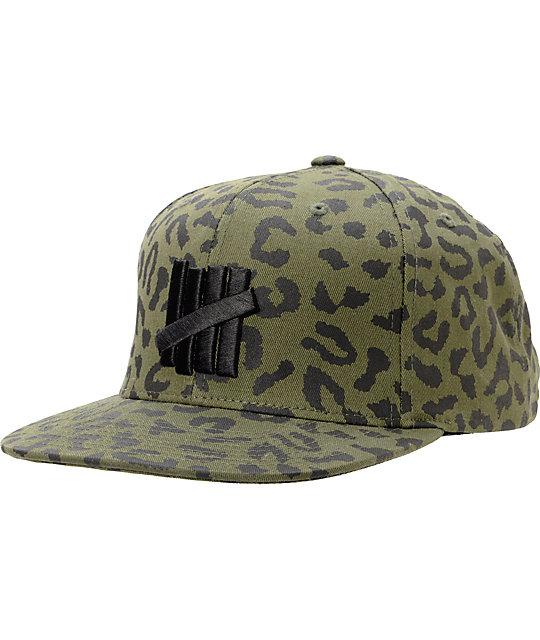 e63a975c Undefeated Five Strike Combat Green Leopard Snapback Hat | Zumiez