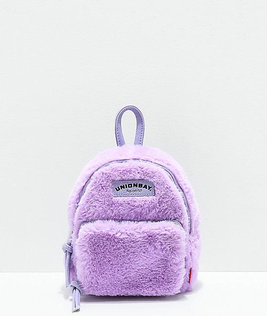 5a9df94070d8 Unionbay Fuzzy Lavender Mini Backpack