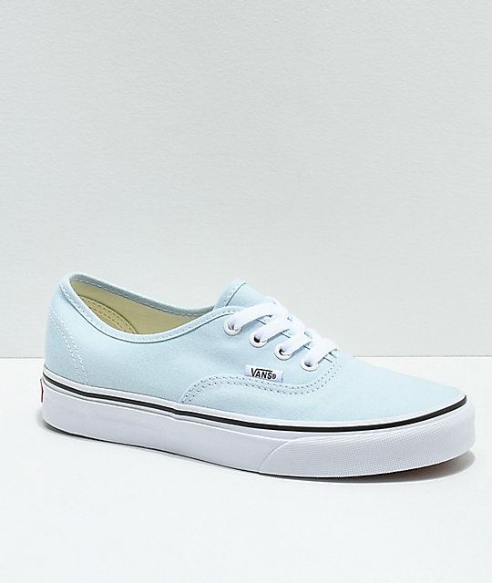 2496d47450 Vans Authentic Baby Blue   True White Skate Shoes