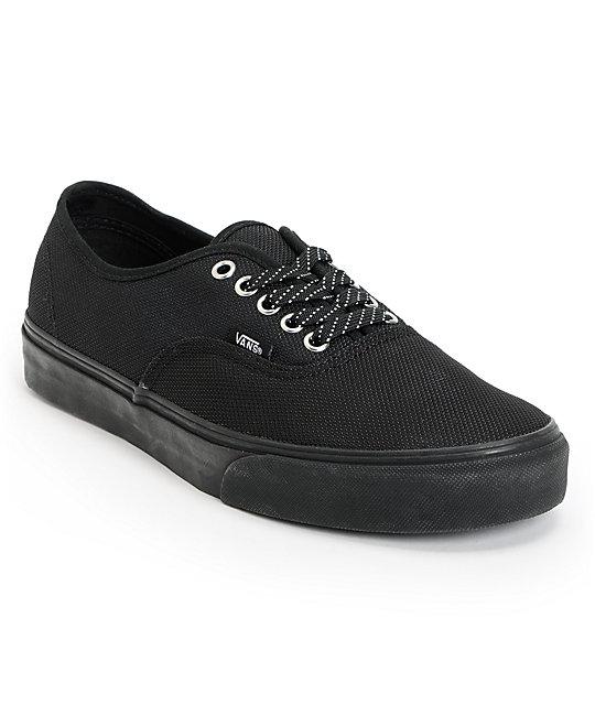Vans Authentic Ballistic Black Skate Shoes