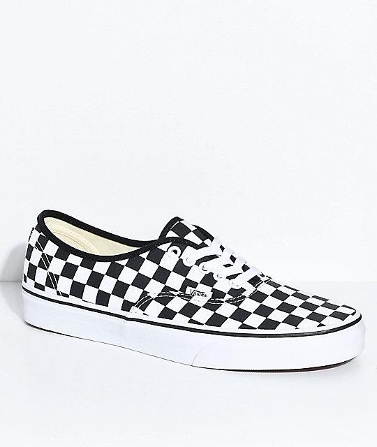 ea4da04f0dde8 Vans Authentic Black & White Checkered Skate Shoes | Zumiez