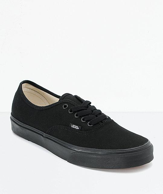 2fd9f4e037c2 Vans Authentic Black Canvas Skate Shoes | Zumiez