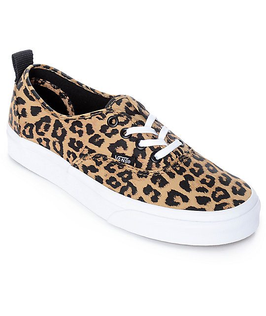 1b1c861845 Vans Authentic Leopard Print   True White Skate Shoes
